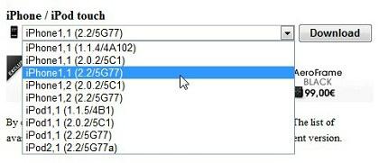 IPHONE1 RESTORE.IPSW TÉLÉCHARGER 2 2.2 5G77