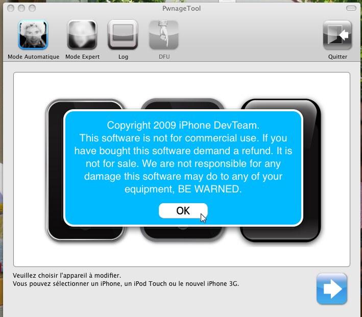 Sauvegardez votre iPhone avant de faire la procédure. pour l'iPhone v1